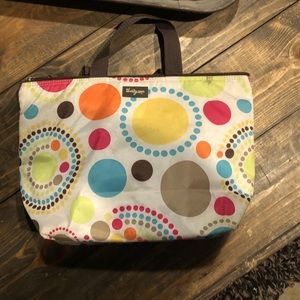 Multi-colored polka do thirty one insulated bag